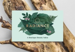 Radiance Beauty Salon London Brand design by Sophie Light – Business card design