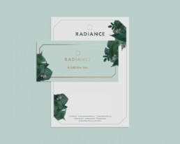 Radiance Beauty Salon London Brand design by Sophie Light – Letterhead design