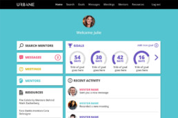 Urbane Mentor App design by Sophie Light – UI design