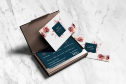 Laura Gilsenan Celebrant branding by Sophie Light – Business card design