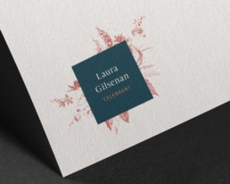 Laura Gilsenan Celebrant branding by Sophie Light – Logo design