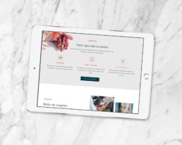 Laura Gilsenan Celebrant branding by Sophie Light – Responsive website design